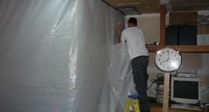 Installation of Vapor Barrier