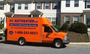 Mold Cleanup and Water Damage Repair Truck